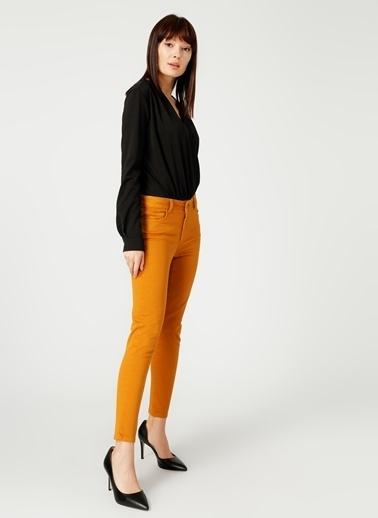 NetWork Network Slim Fit Düz Siyah Bluz Siyah